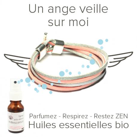 Bracelet anti-stress aux huiles essentielles