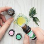 huile massage à l'huile essentielle pour digérer